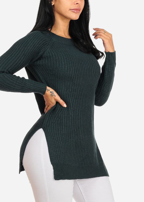 Cozy Knitted Teal Sweater