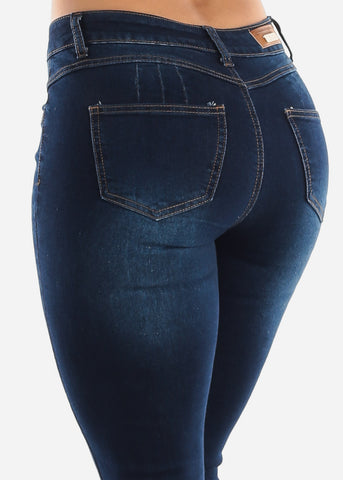 Butt Lift Distressed High Rise Skinny Jeans