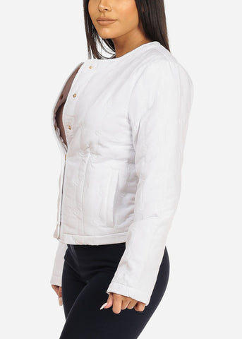 Image of White Button Up Jacket