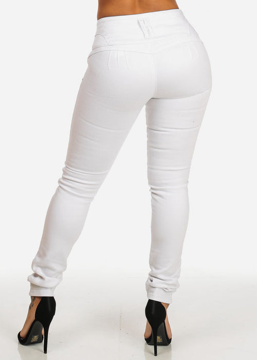 Brazilian Butt Lifting High Rise White Jeans