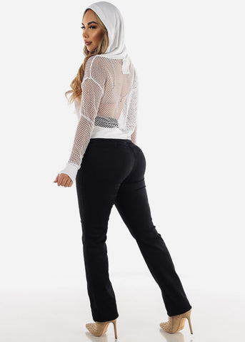 Ultra High Rise Levanta Cola Black Jeans