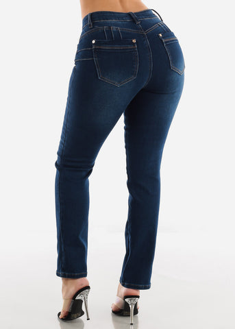 Image of Butt Lifting Dark Navy Bootcut Jeans
