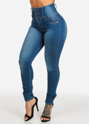 Levanta Cola High Waisted Med Skinny Jeans