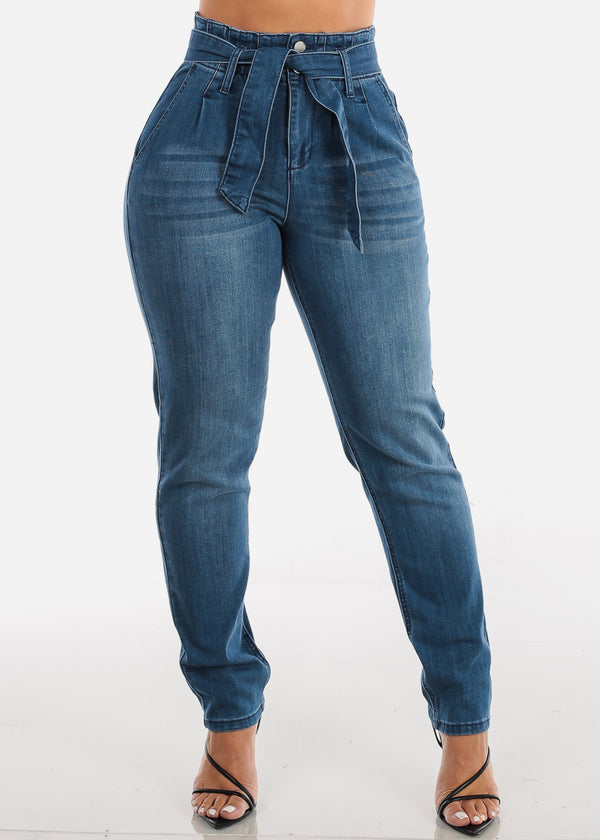 Super High Rise Medium Wash Skinny Jeans