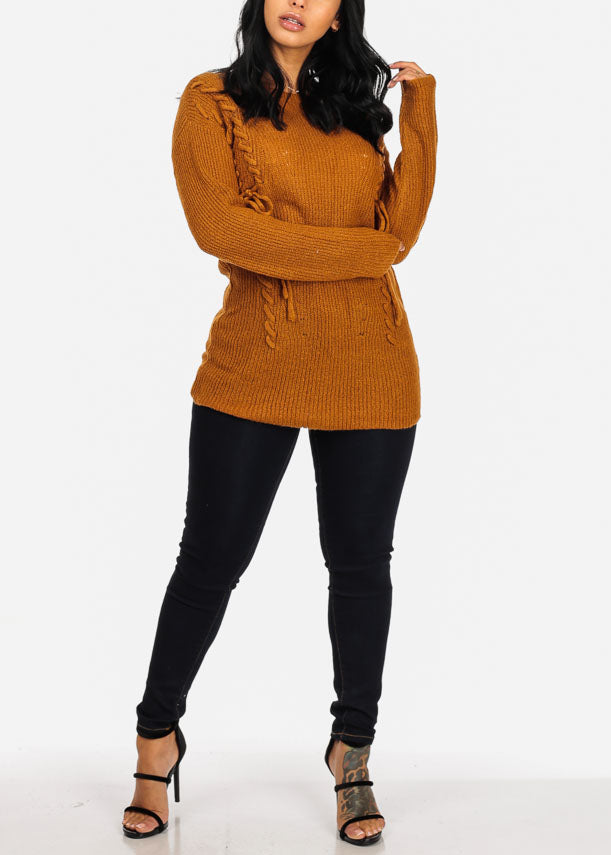 Cozy Mustard Knitted Tunic