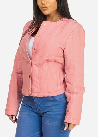 Image of Pink Button Up Jacket