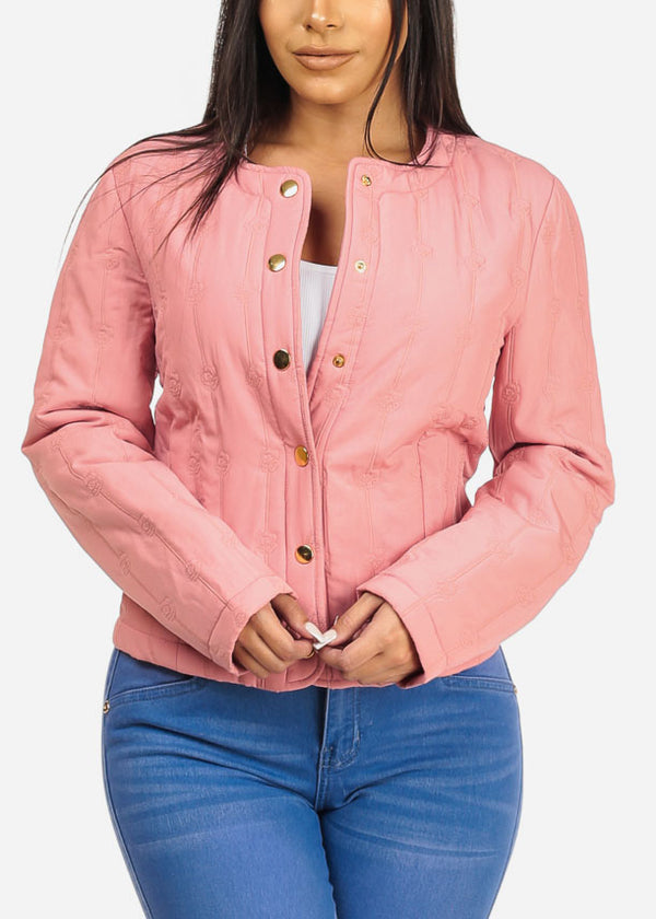 Pink Button Up Jacket