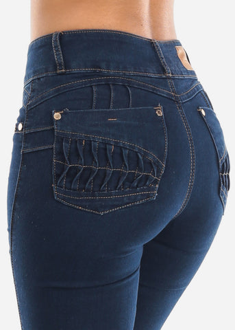 Levanta Cola Bootcut Dark Blue Jeans