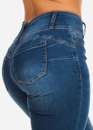 Butt Lifting Mid Rise Skinny Jeans