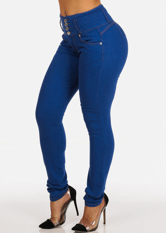 Levanta Cola High Rise Light Denim Butt Lifting Skinny Jeans