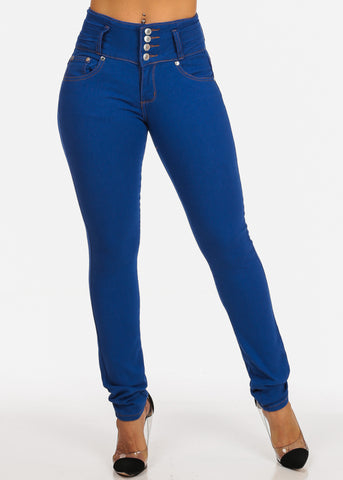 Image of  Levanta Cola High Rise Light Denim Butt Lifting Skinny Jeans