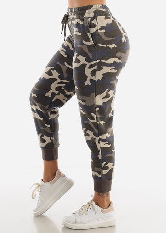 High Rise Camouflage Jogger Sweatpants