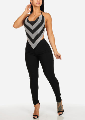 Image of High Waisted Black Skinny Pants