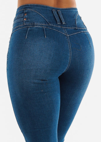 Butt Lifting Med Blue Jeans