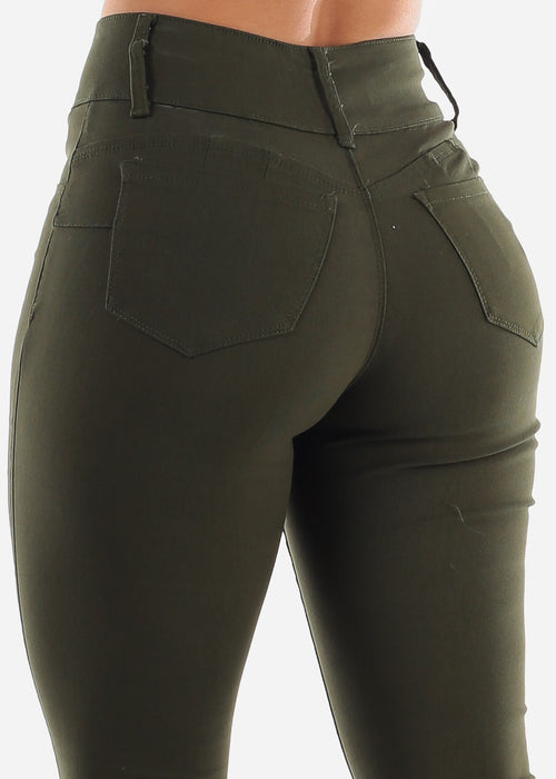 Olive Butt Lifting Pants