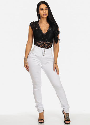 Image of White Butt Lift High Waisted Skinny Jeans