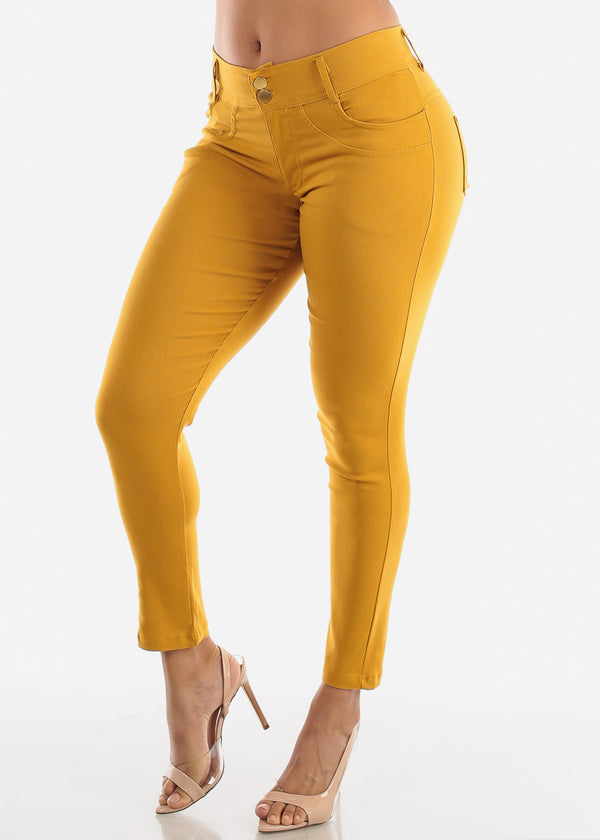 Mustard High Rise Skinny Pants