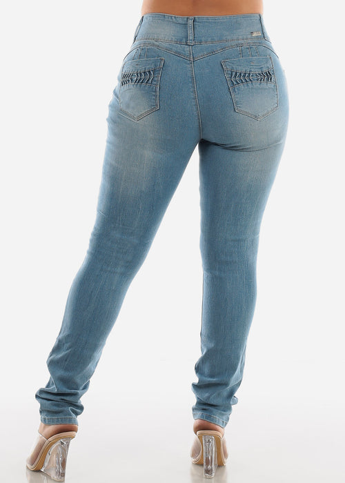 Butt Lifting Light Skinny Jeans SIZES 13-15-17