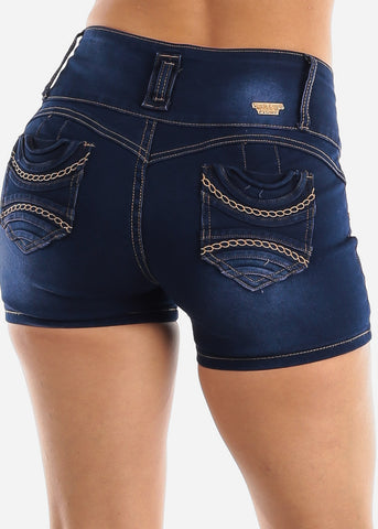 Levanta Cola Dark Wash Denim Shorts