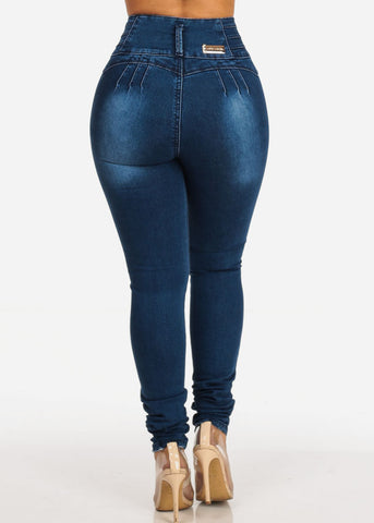 Image of Butt Lifting High Waisted Skinny Jeans