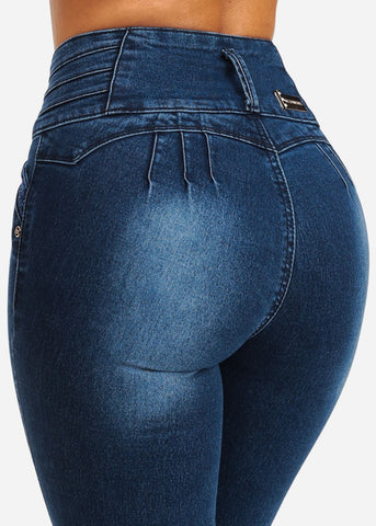 Butt Lifting High Waisted Skinny Jeans