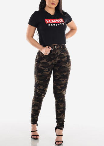 Image of MX Camouflage Skinny Jeans