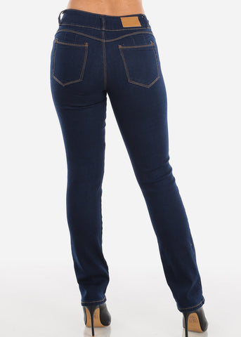 Levanta Cola Navy Dark Wash Bootcut Jeans