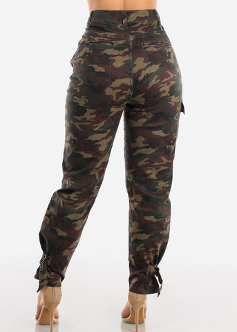 Image of High Rise Camouflage Cargo Pants