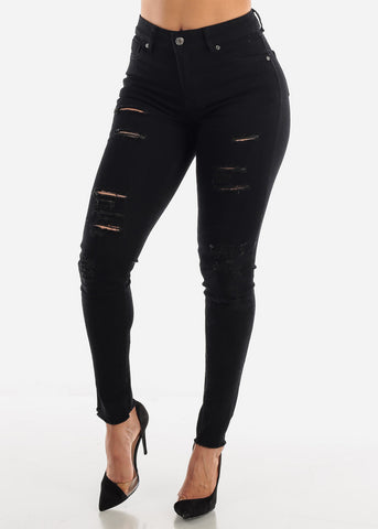 Image of Black Ripped Jeans