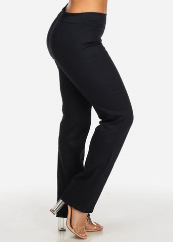 Image of Evening Wear High Rise Navy Pants