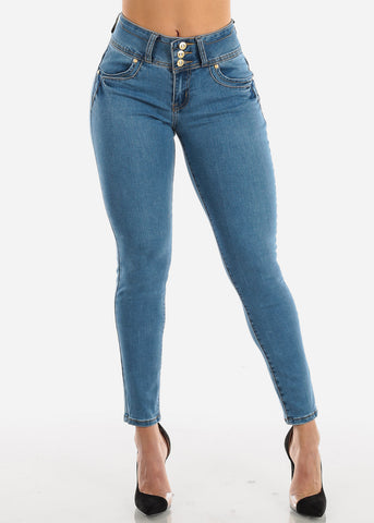 Image of Levanta Cola Med Wash Skinny Jeans