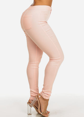 Image of Blush High Waist Slim Fit Skinny Pants