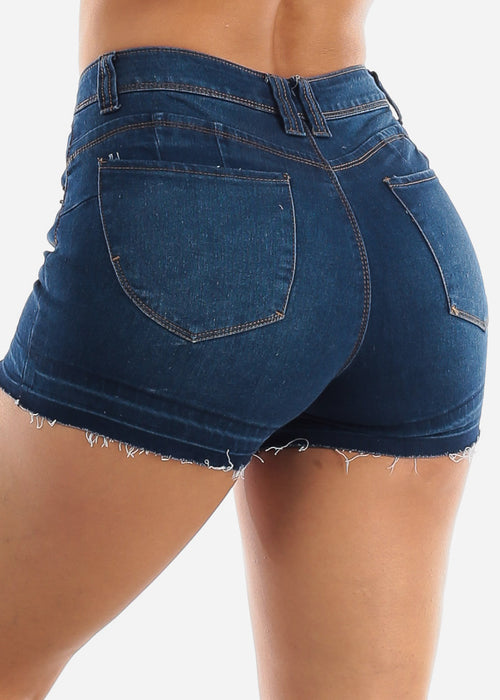Butt Lifting High Waisted Denim Shorts