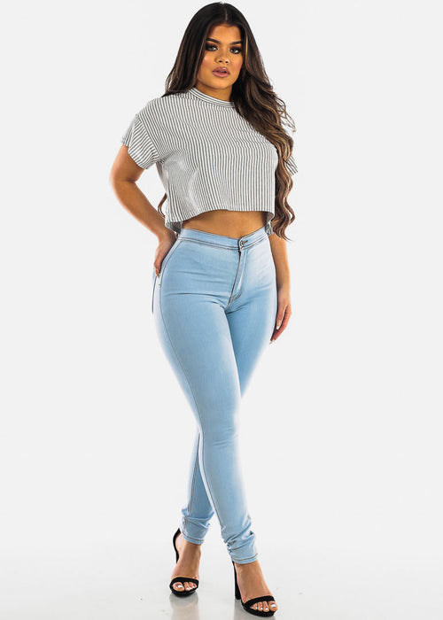 Classic Light Wash Skinny Jeans