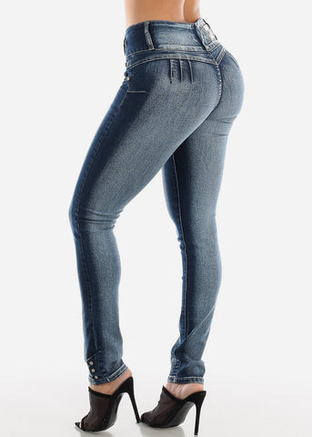 Image of Butt Lifting Mid Rise Skinny Jeans