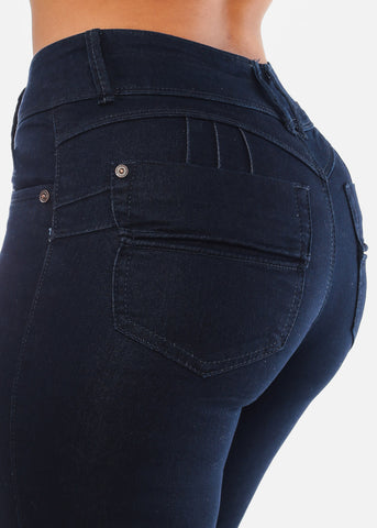 Image of Butt Lifting Dark Wash Skinny Jeans