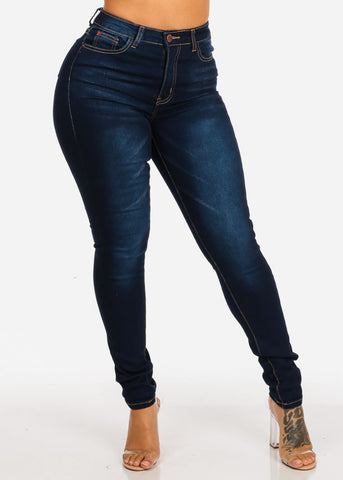 Image of Classic High Rise Dark Skinny Jeans