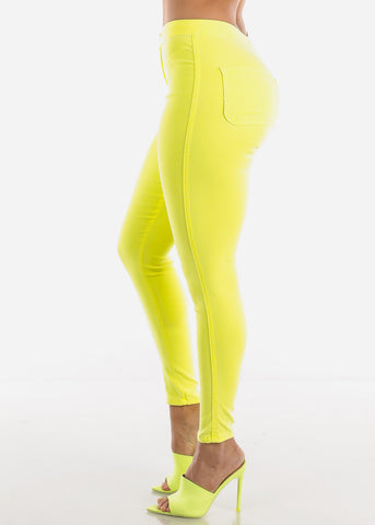 Yellow High Rise Jegging Skinny Pants