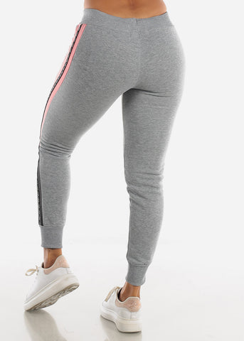 "Grey Jogger Sweatpants ""Good Vibes"""