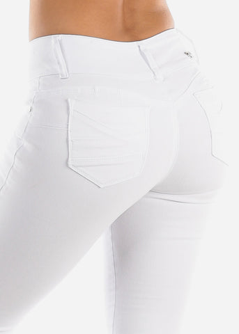 Image of Butt Lifting White Skinny Jeans