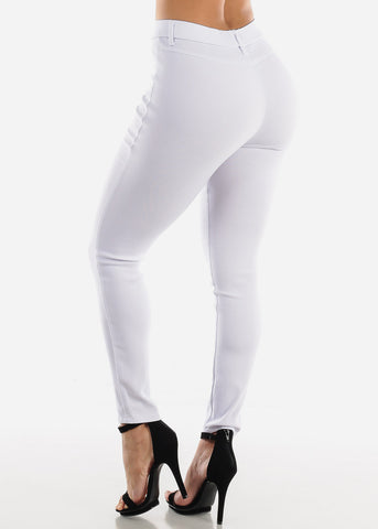 White Jegging Skinny Pants