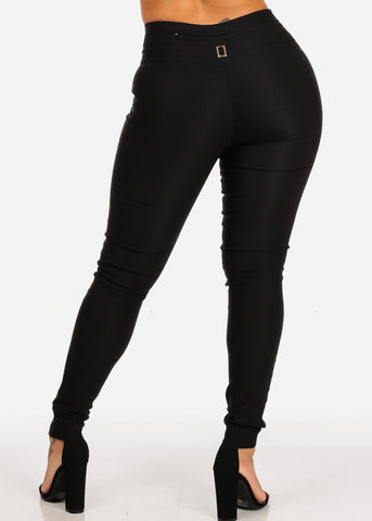 Image of Butt Lifting High Waisted Black Skinny Pants