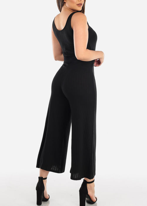 Black Jumpsuit Wide Legged