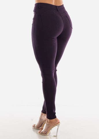 Image of High Rise Butt Lift Purple Pants