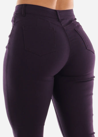 High Rise Butt Lift Purple Pants
