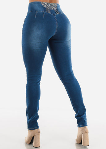 Image of Mid Rise Slim Fit Skinny Jeans