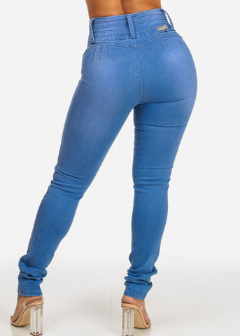 High Waisted Colombian Butt Lifting Med Jeans