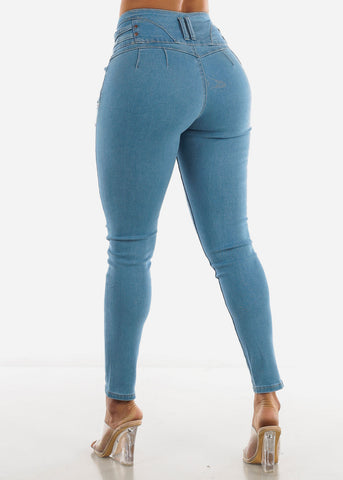 Butt Lifting Light Blue Jeans