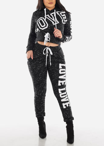 Image of Black Love Sweater & Jogger Pants