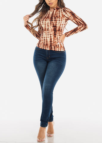 Image of High Waisted Levanta Cola Dark Wash Skinny Jeans